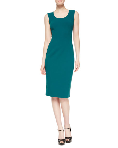 Michael Kors Collection Sleeveless Scoop-Neck Sheath Dress, Peacock