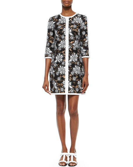 Michael Kors Collection Floral Lace Shift Dress