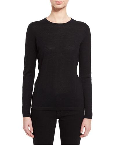 Superfine Cashmere Modern Crewneck Sweater