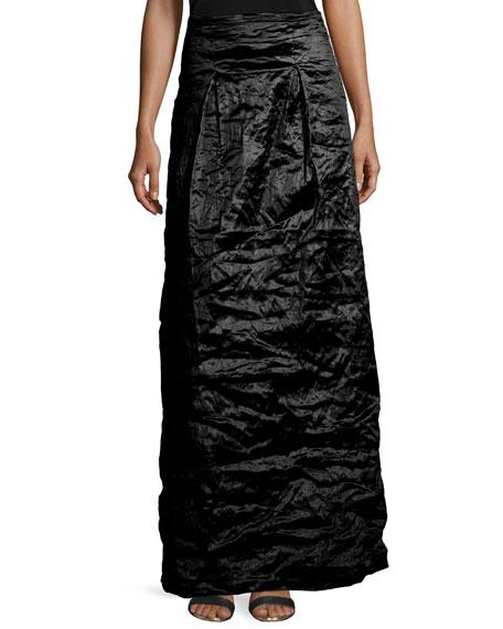 Nicole Miller Techno Metal Long Skirt