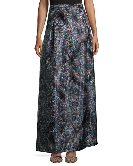 Nicole Miller Resplendent Crystal-Print Ball Skirt