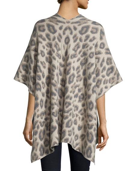 Double-Knit Cashmere Leopard Shawl