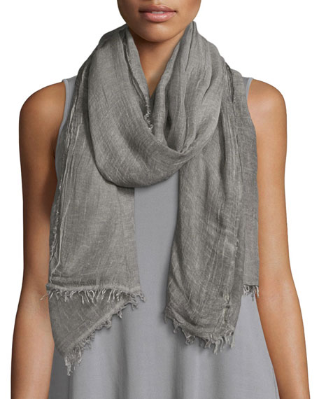 Eileen Fisher Coated A-line Zip-Front Coat, Long Silk