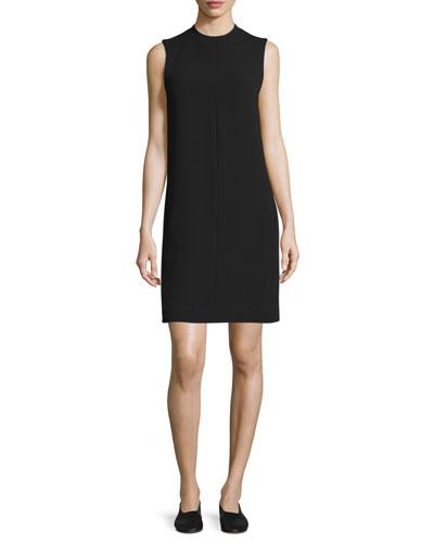 Sleeveless Shift Dress, Black