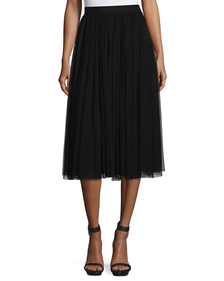 Needle & Thread Ballerina High-Waist Tulle Skirt, Black