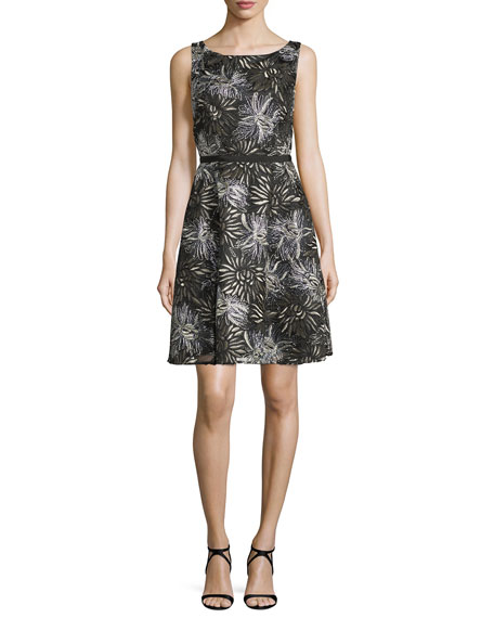 Laundry By Shelli Segal Sleeveless Embellished Cocktail Dress,