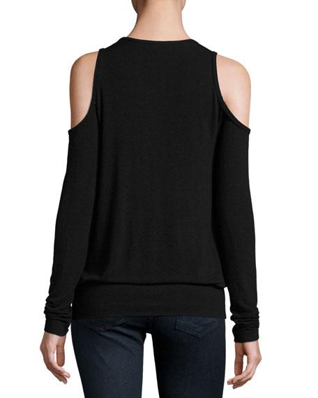 Big Hit Surplice Cold-Shoulder Sweater Sale