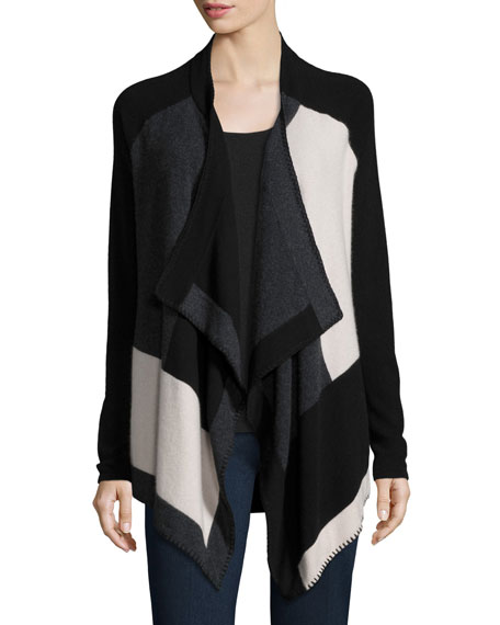 Neiman Marcus Cashmere Collection Open Whipstitched Cashmere