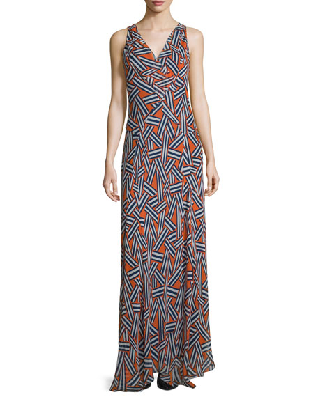 Diane von Furstenberg Dita Sleeveless Ribbon Rectangles Silk