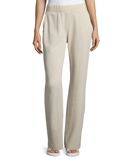 Escada Wide-Leg Lounge Pants, Rice