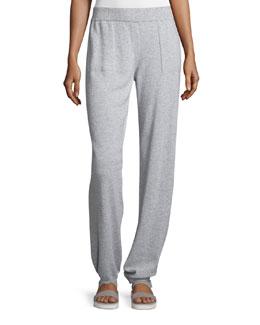 Mid-Rise Cashmere Spa Pants, Vapor