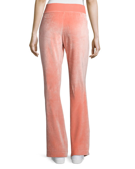 Wide-Leg Velvet Pants, Passion Fruit