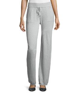 Mid-Rise Drawstring-Waist Pants, Vapour