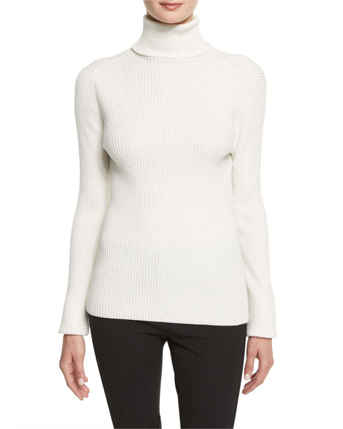 3adfb4880931 3.1 Phillip Lim Long-Sleeve Ribbed Turtleneck Sweater