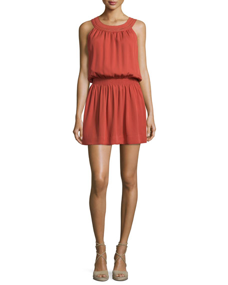 Joie Sonja Sleeveless Silk Dress, Burnt Rose