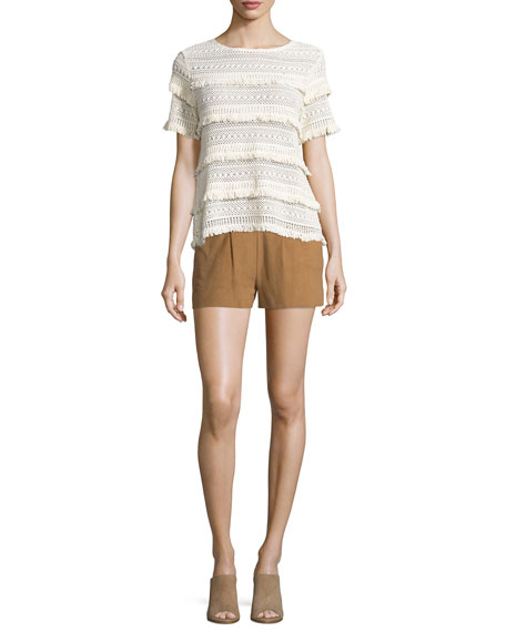 Lautaro Suede Shorts, Honey