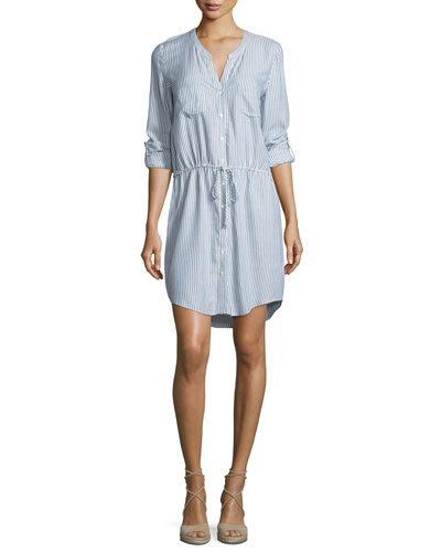 Cassina Striped Cotton Shirtdress