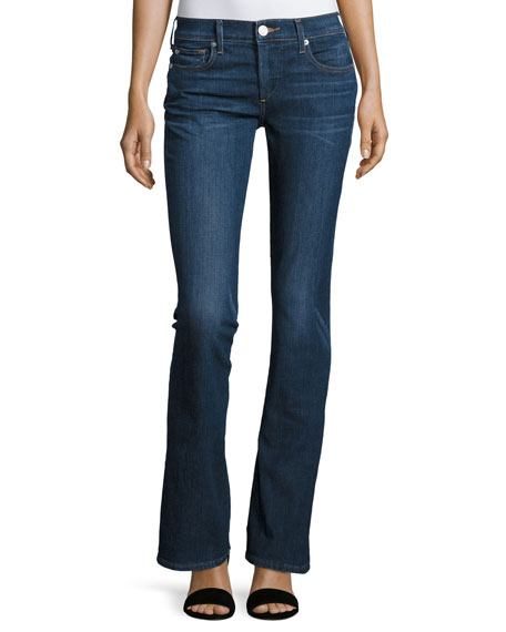 True Religion Becca Mid-Rise Boot-Cut Jeans, Worn Vintage