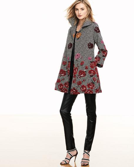 Caroline Rose Plus Size Faux-Leather Skinny Pants