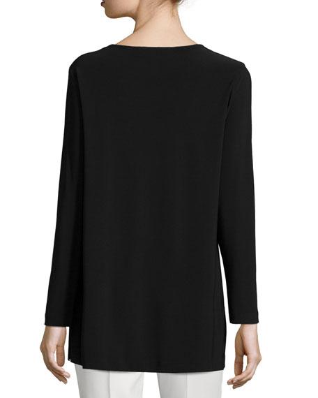 Easy Long-Sleeve Jersey Tunic, Petite