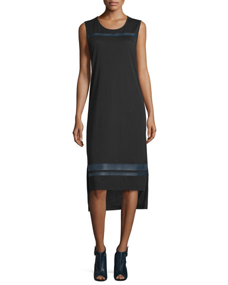 Public School Nevin Sleeveless Jersey Midi Dress, Black