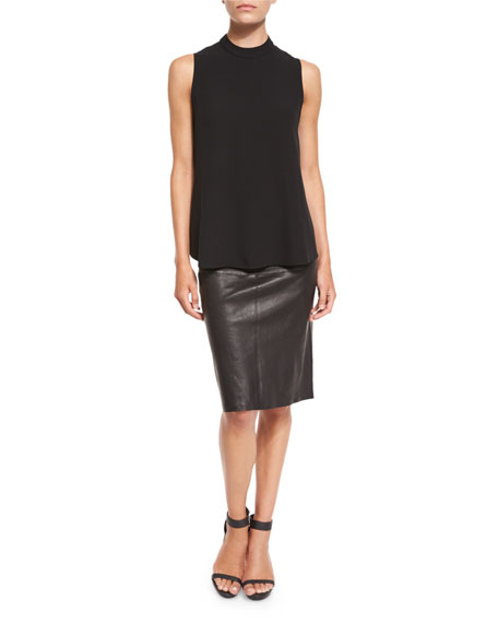 Fisher Project Leather Pencil Skirt