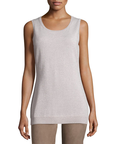 Lafayette 148 New York Scoop-Neck Lurex® Shell, Luxor