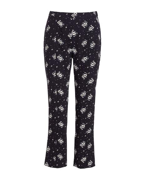 Stardust Onyx Slim Cropped Pants, Black/Multi