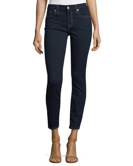 7 For All Mankind The Ankle Skinny Jeans B[Air] Rinsed Indigo