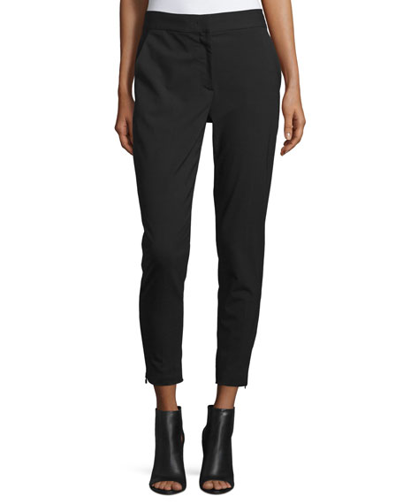 DKNY Cropped Tailored Relaxed Pants, Black