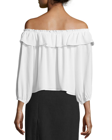 Totto Off-The-Shoulder Ruffle Top