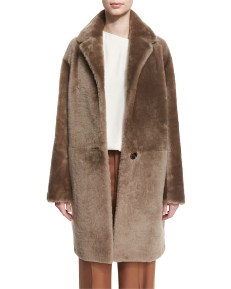 Helmut lang reversible shearling coat bisque neiman marcus for Schlafsofa 2 m lang