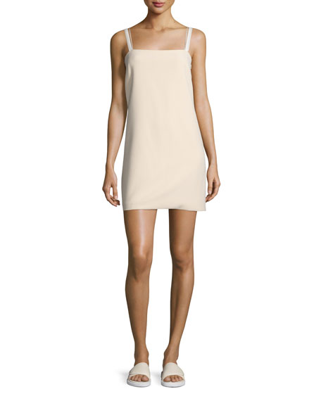 Helmut Lang Sleeveless Ponte Shift Dress, Shell