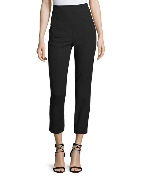 Anson high-rise stretch-cady trousers