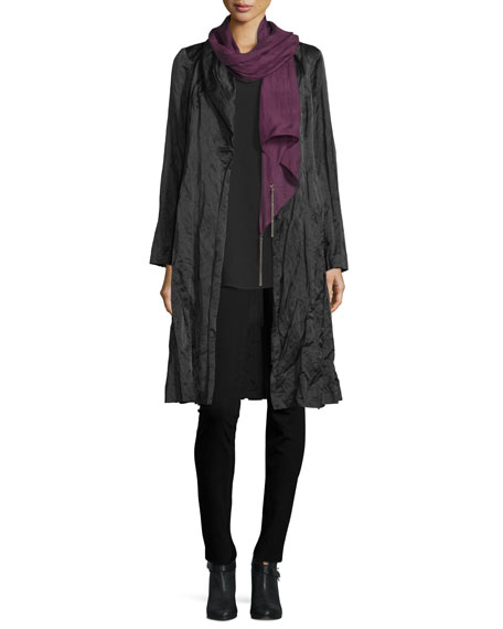 Whisper-Silk Chain Scarf, Deep Raisin