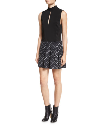 Naya Dress w/Pleated Plaid Skirt