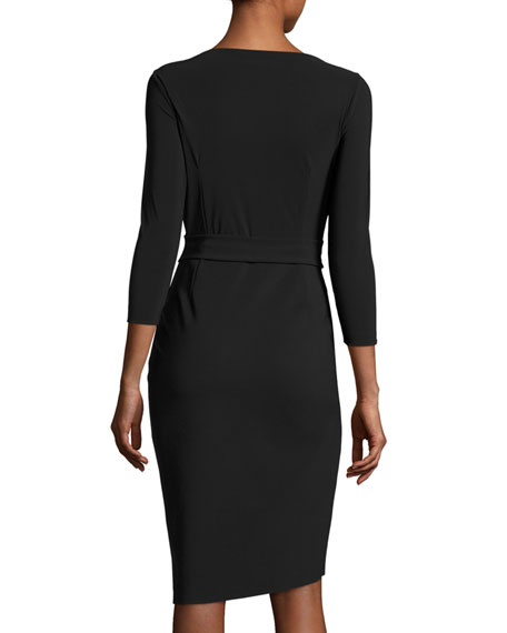 Peekaboo Cutout Sheath Dress, Nero (Black)