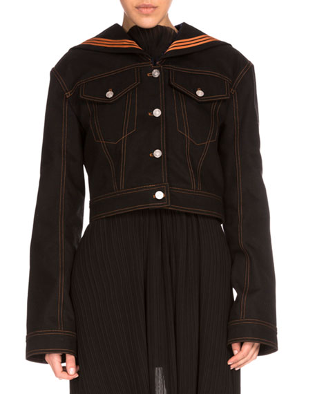 Kenzo Denim Sailor Jacket, Black