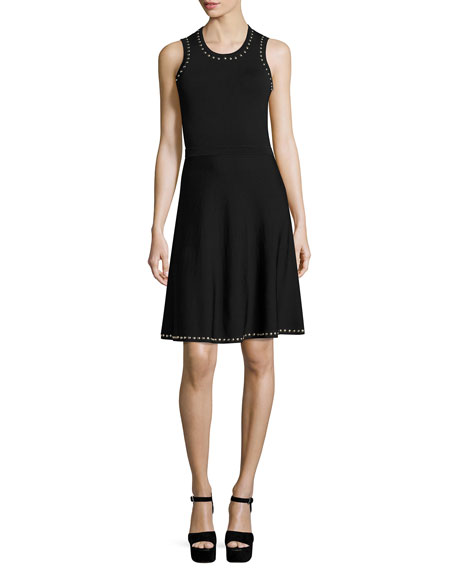 Parker Brenda Studded Knit Dress, Black