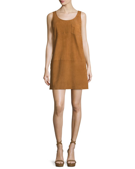 ATM Anthony Thomas Melillo Sleeveless Suede Mini Dress,