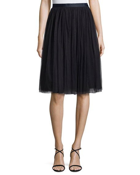 Tulle Maxi Skirt, Midnight