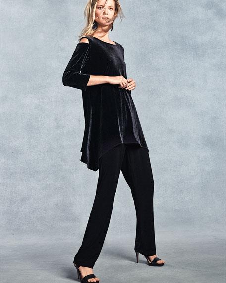 Cold-Shoulder Velvet Tunic, Plus Size