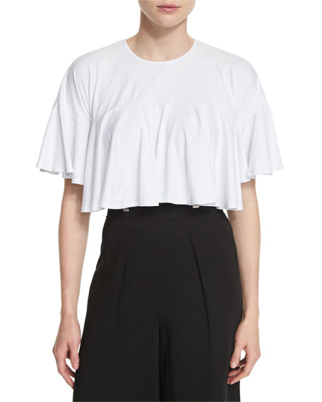 Cropped Flutter Short-Sleeve Tee