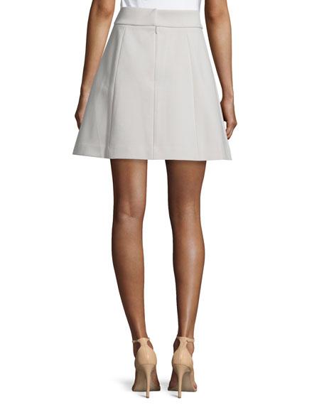 A-Line Crepe Skirt, Flint