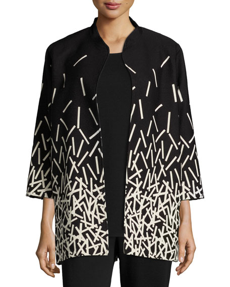 Caroline Rose Pick Up Sticks Printed Jacket, Petite