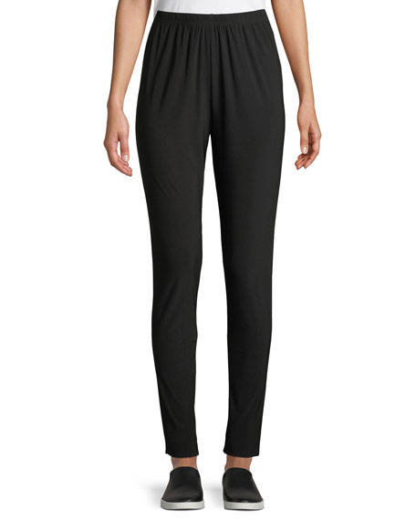 Stretch Easy Wrinkle-Resistant Leggings, Black