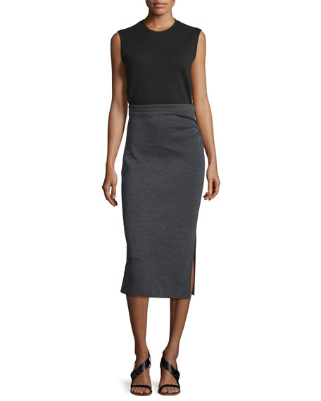 Joseph Ellis Sleeveless Jersey Dress, Black/Gray