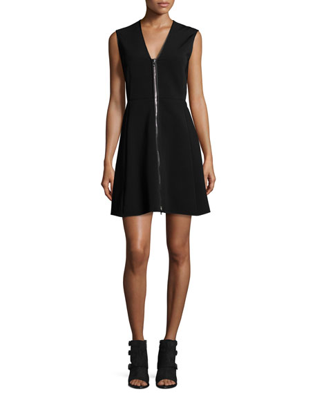 Rag & Bone Sharon Sleeveless Zip-Front Jersey Dress,