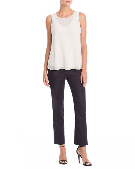 NIC+ZOE The Perfect Front-Zip Ankle Pants