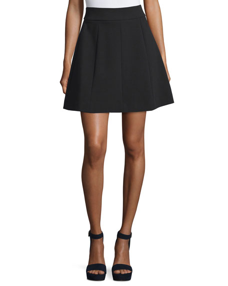 A-Line Crepe Skirt, Black